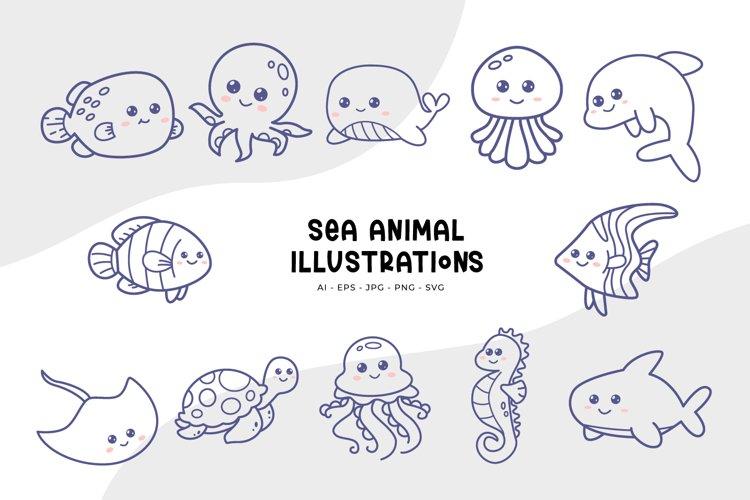Sea Animal Illustrations