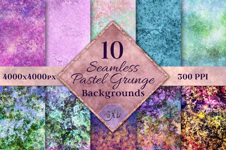 Seamless Pastel Grunge Backgrounds - 10 Image Textures Set