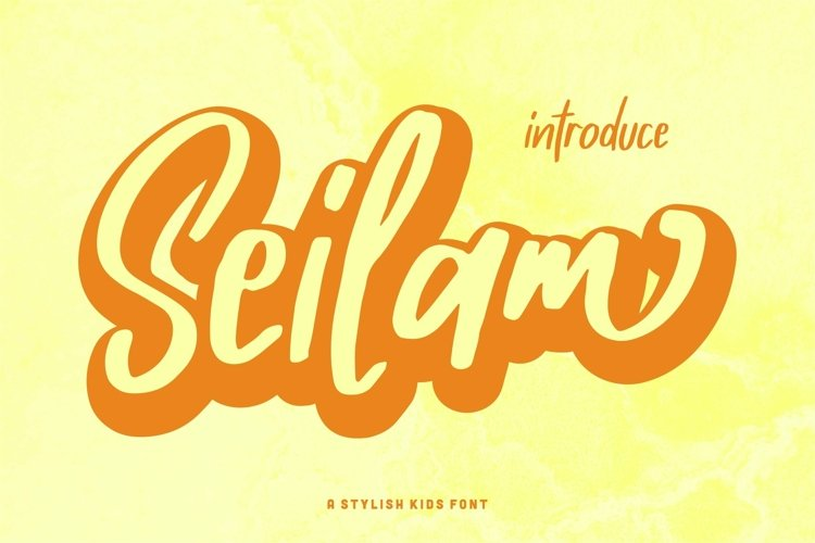 Web Font Seilam - A Stylish Kids Font example image 1