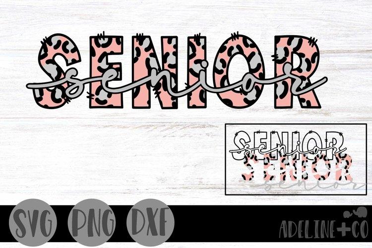 Senior, Cheetah Print, Graduation, SVG, PNG, DXF example image 1