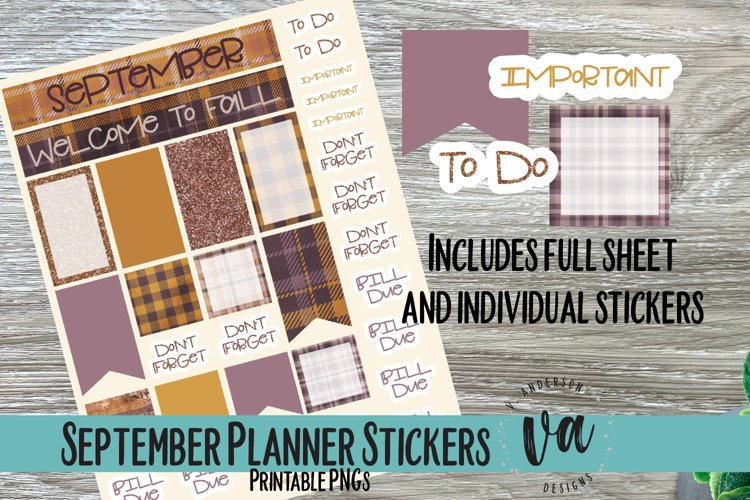 September Planner Bundle PNGs
