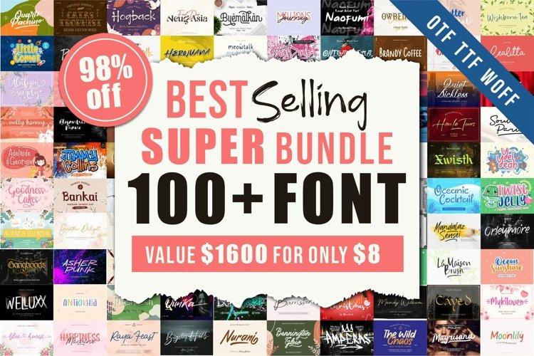 Best Selling 100 Plus Fonts Super Bundle example image 1