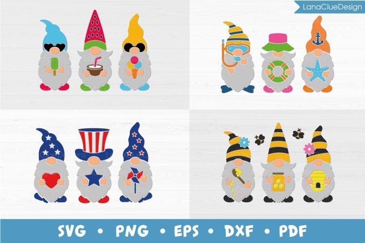 Summer Gnomes SVG Bundle - 4 Designs
