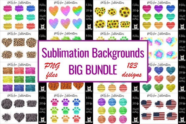Sublimation backgrounds big bundle.