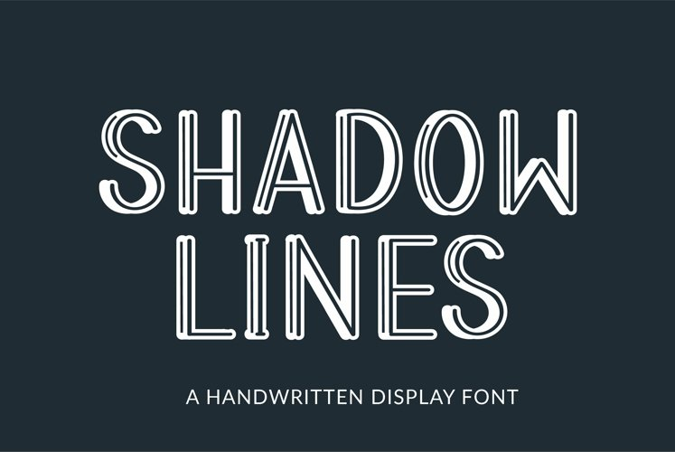 Web Font Shadow Lines - a handwritten display font example image 1