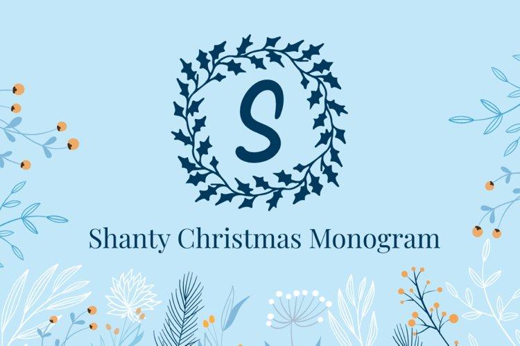 Shanty Christmas Monogram example image 1