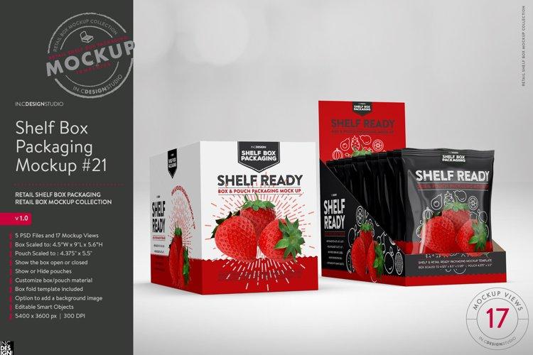 Retail Shelf Box 21 Packaging Mockup