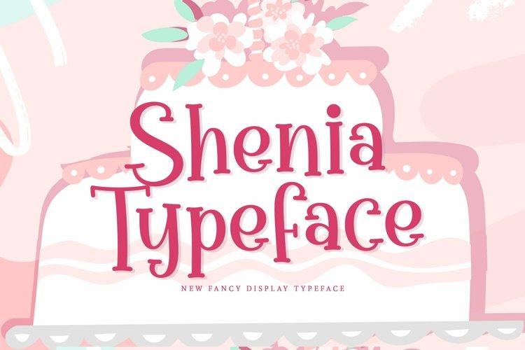 Web Font Shenia example image 1