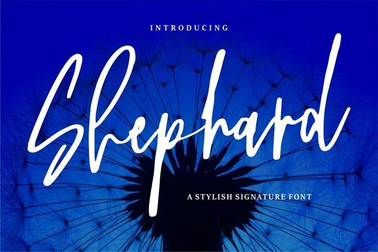 Shephard - A Stylish Signature Font example image 1