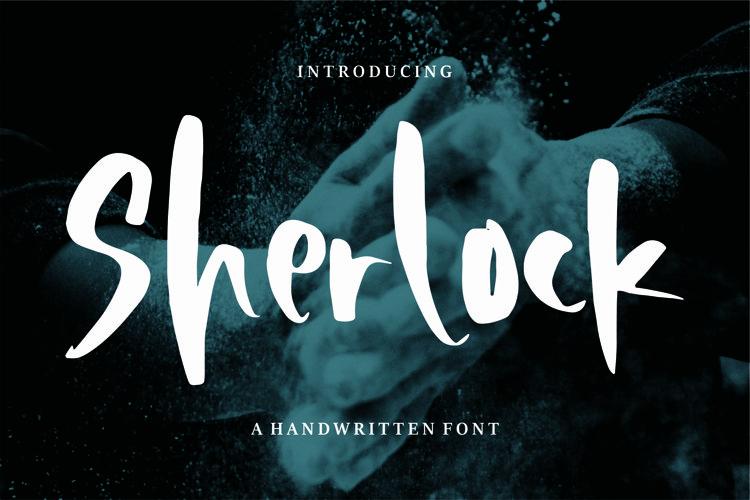 Sherlock - A Handwritten Font example image 1