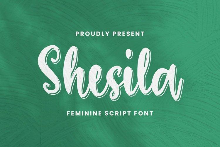 Web Font Shesila Font example image 1