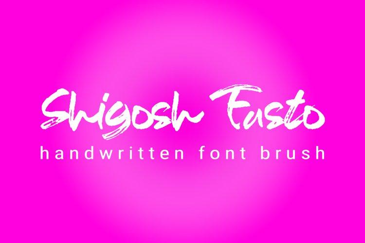 Shigosh Fasto hand brush font example image 1