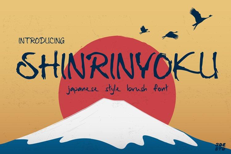 Shinrinyoku - Natural Japanese Brush Font