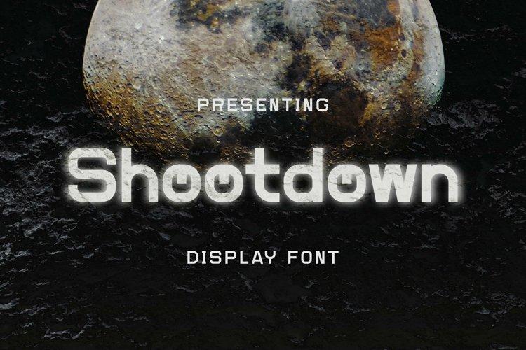 Web Font Shootdown - Display Font example image 1