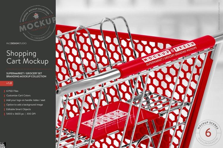 Shopping Cart Branding Mockup