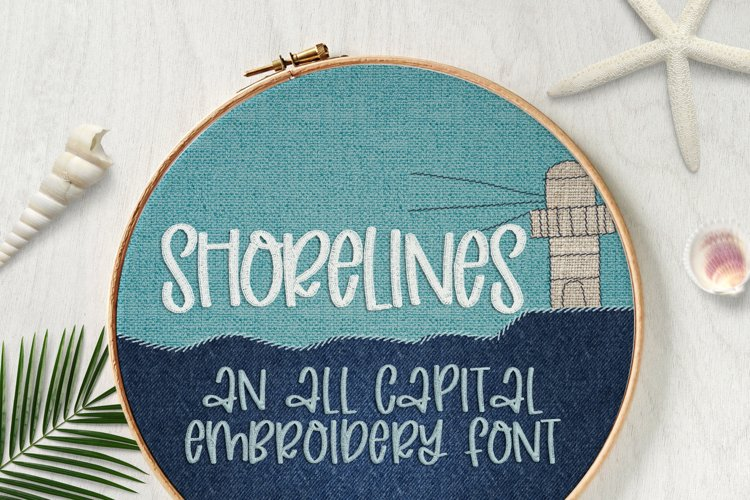 Shorelines - Embroidery Font example image 1