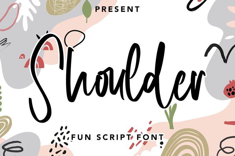 Shoulder - Fun Script Font example image 1