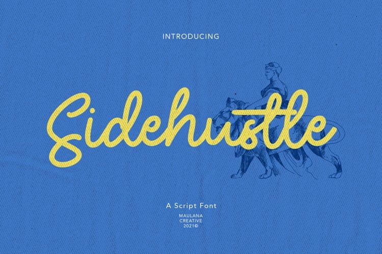 Sidehustle Vintage Script Font example image 1