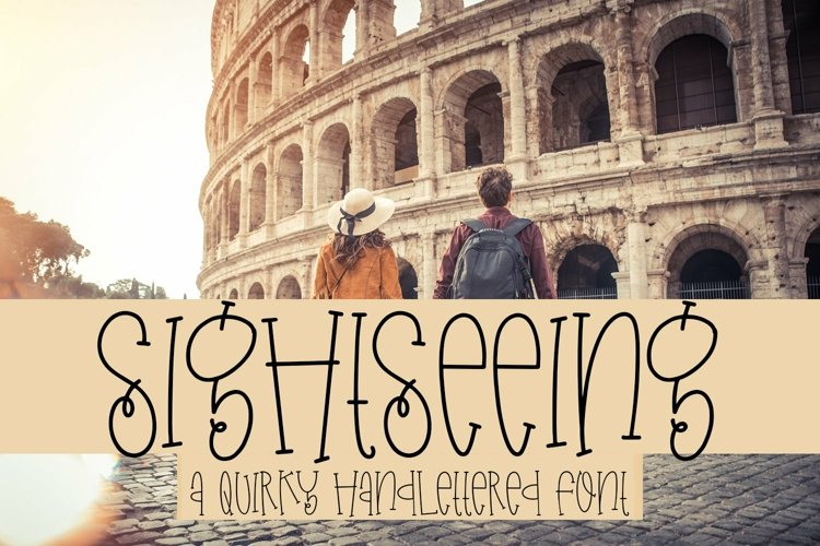 Web Font Sightseeing - A Quirky Handlettered Font