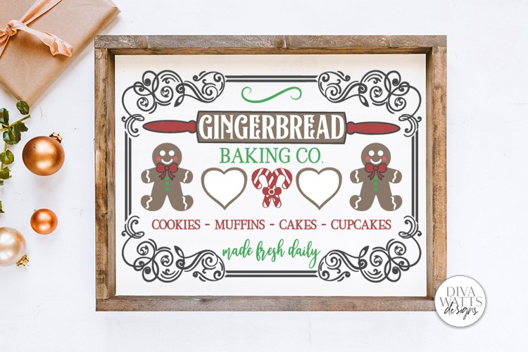 Gingerbread Baking Co SVG | Christmas / Winter Design example image 1