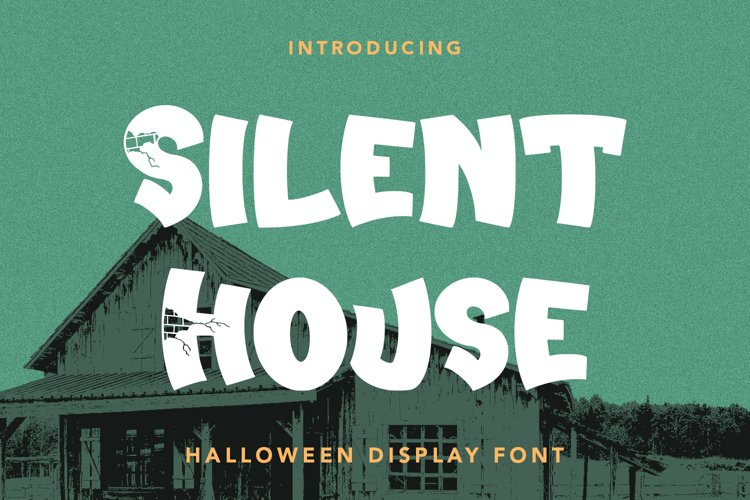 Silent House - Halloween Display Font example image 1