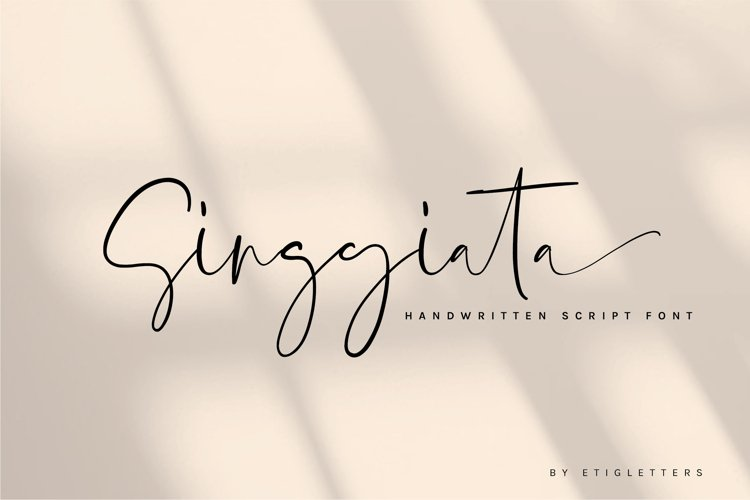 Singgiata Handwritten Font example image 1