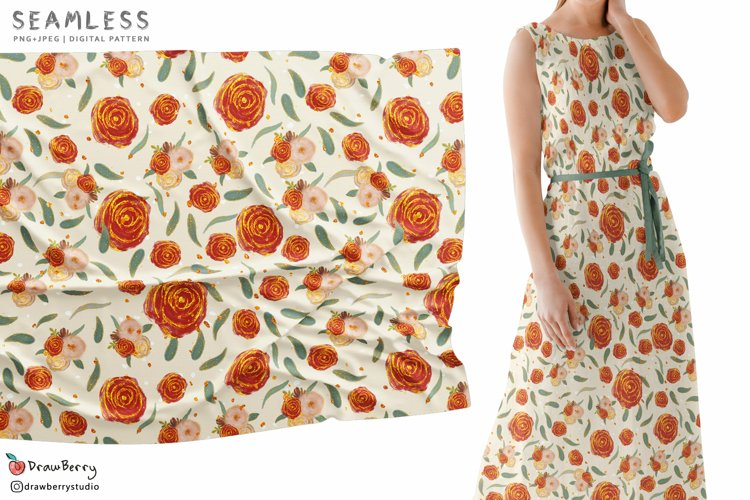 Seamless Rose Pattern SP066 example image 1