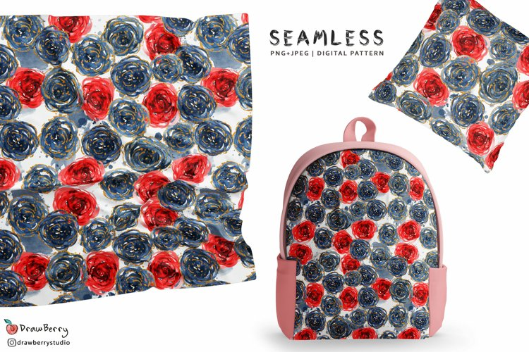 Rose - Floral Seamless Pattern SP001 example image 1