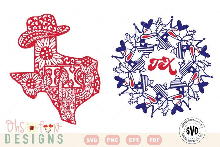 SVG Texas mandala | Texas zentangle | state map bundle