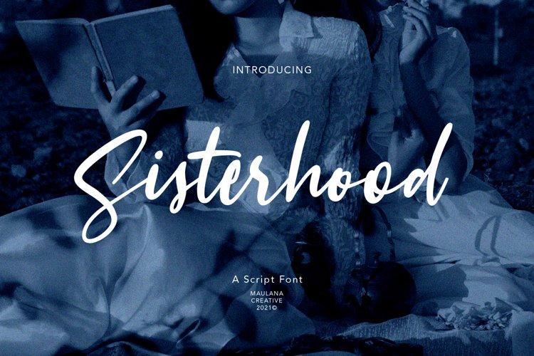 Sisterhood Script Font example image 1