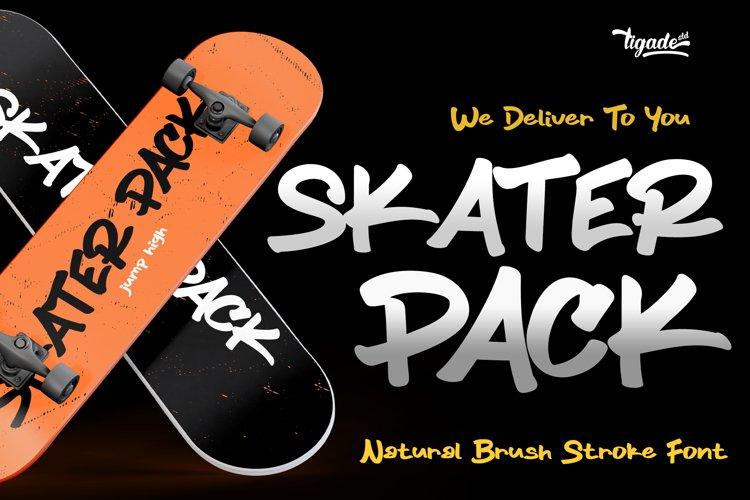Skater Pack - Brush Font - Handletter Graffiti Font example image 1