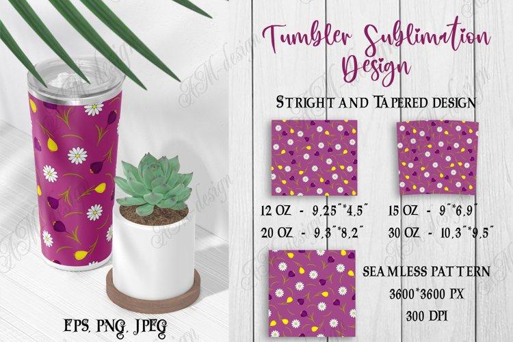 Tumbler sublimation design magenta