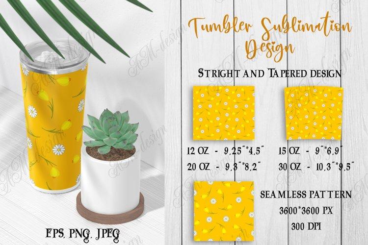 Tumbler sublimation design yellow