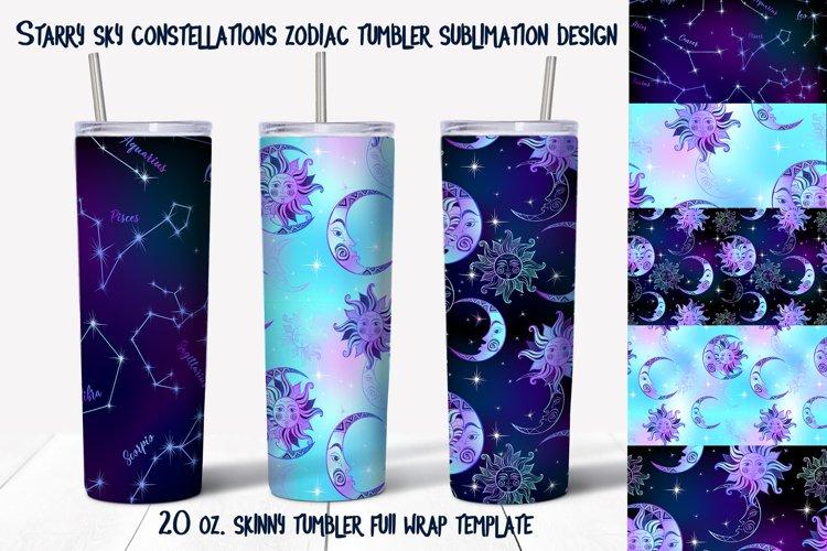 Skinny tumbler Png. Starry sky design. Skinny tumbler wrap