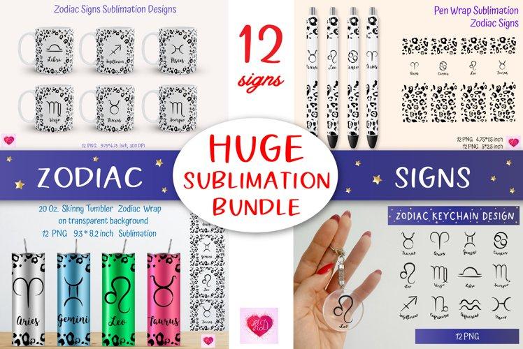 Huge Zodiac Sublimation Bundle. Zodiac Signs Tumbler Wrap
