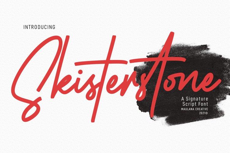 Skisterstones Signature Script Font example image 1