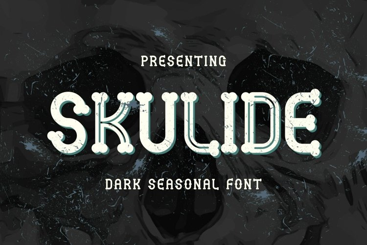 Web Font Skulide - Halloween Display Font example image 1