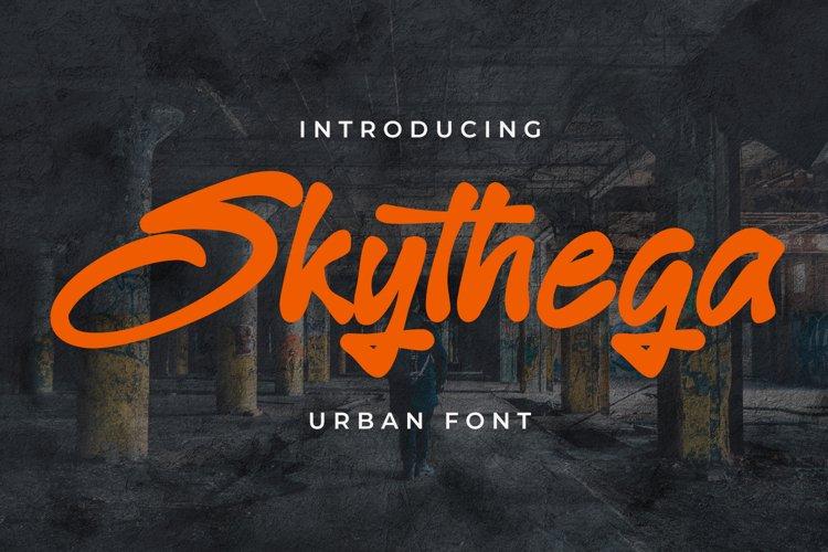 Skythega - An Urban Graffiti Font example image 1