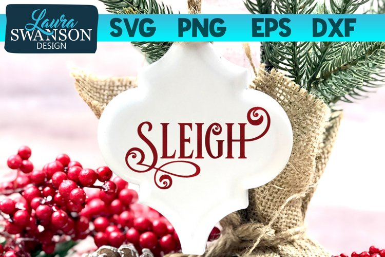 Sleigh SVG Cut File | Christmas SVG Cut File example image 1