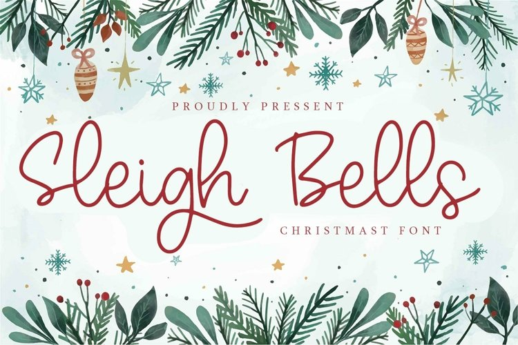 Web Font Sleigh Bells - Christmast Font example image 1