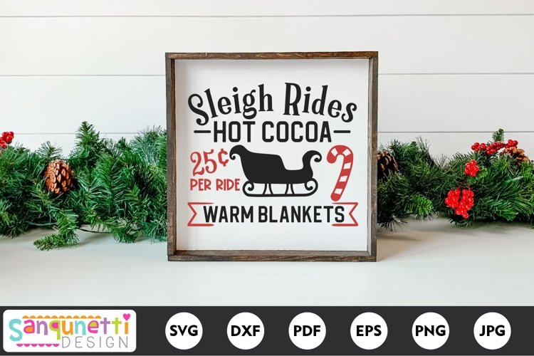 Sleigh rides and Hot Cocoa SVG example image 1