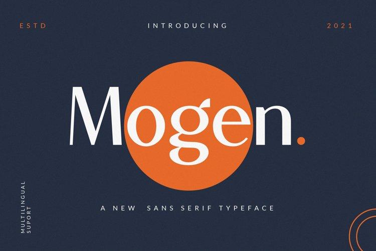 Mogen_a new sans serif typeface-Beautyful san example image 1