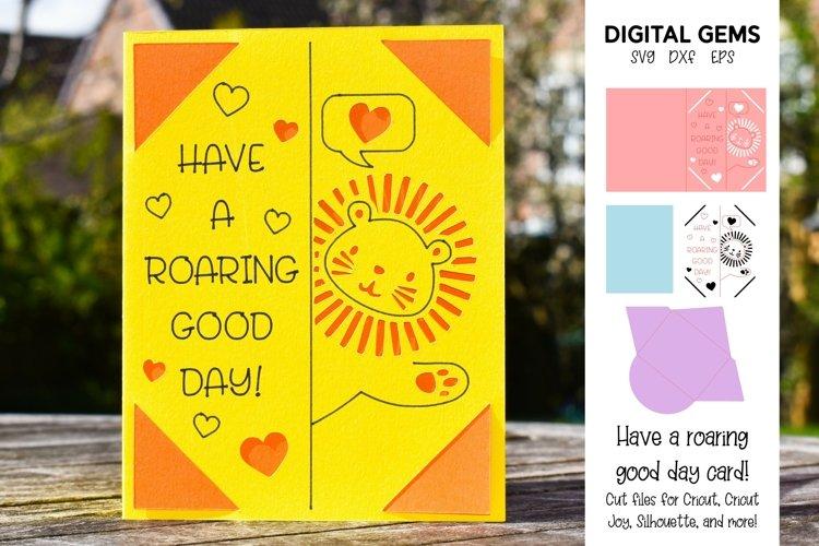 Cricut Joy Card! Lion, Have a roaring good day card design! example image 1