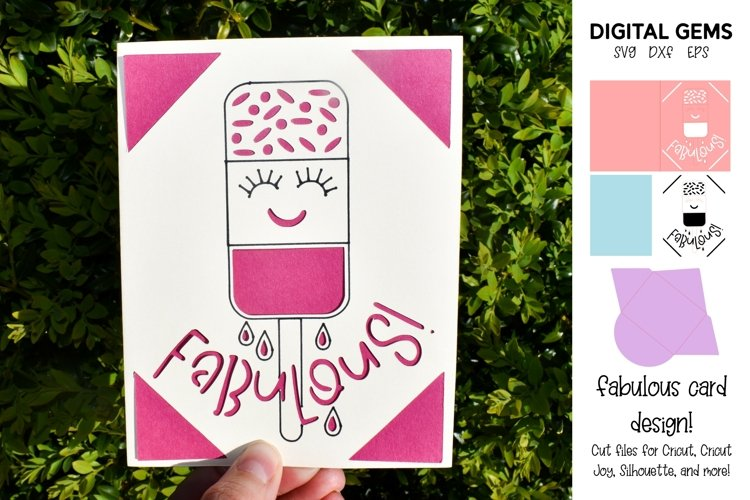 Fabulous Fab. Funny birthday card SVG example image 1