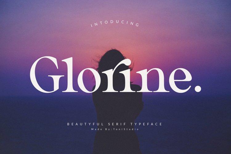 Glorine_Beautyful serif typeface example image 1