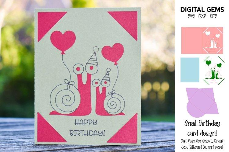 Cricut Joy Card! Snail Birthday card design! example image 1