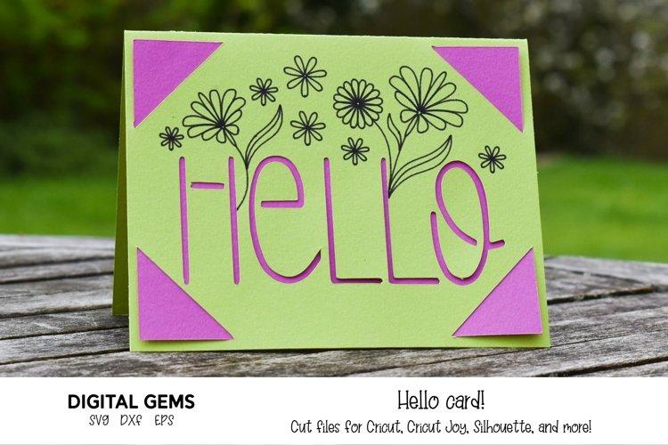 Cricut Joy Card! Hello card design! SVG / DXF / EPS Files example image 1