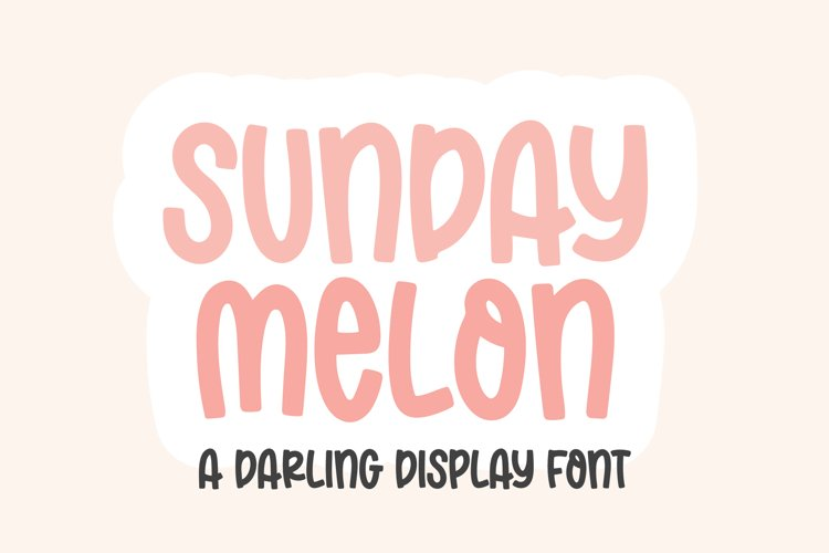SUNDAY MELON Bold Display Font example image 1