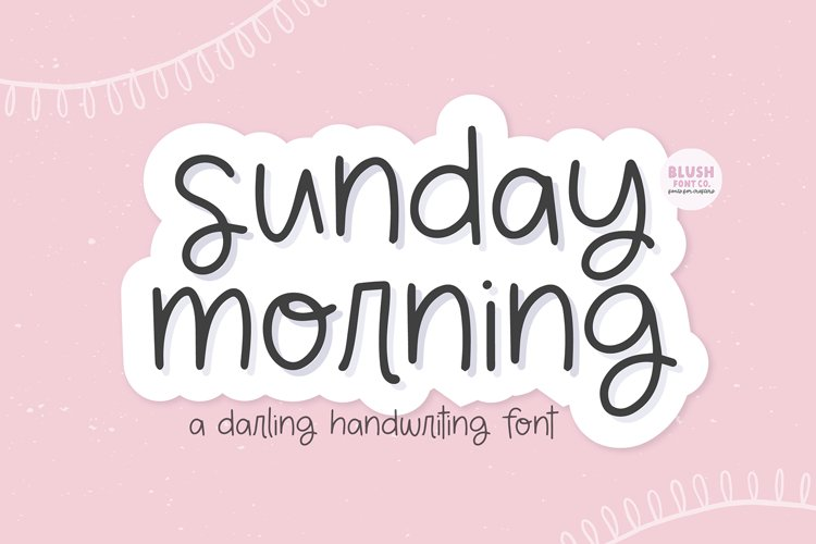 SUNDAY MORNING Cute Handwriting Font example image 1