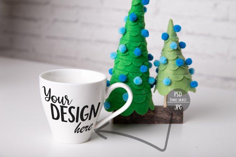 Small Christmas Mug Mockup with Smart Object